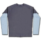 Urban Fashion Inner DeniSky Men's X-Large Long Sleeve T-Shirt - Blue