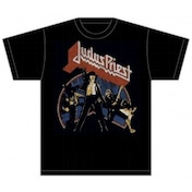 Judas Priest Unleashed v2 Mens Black TShirt: Large