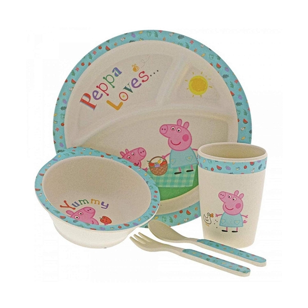 Peppa Pig Bamboo Dinner Set - Image 1