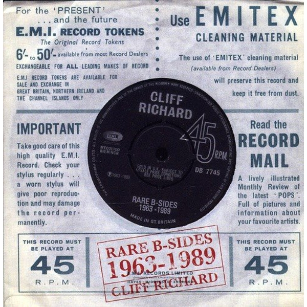 Cliff Richard - Rare B-Sides (1963-1989) CD