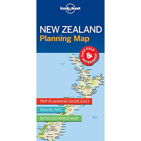 Lonely Planet New Zealand Planning Map  Sheet map, folded 2017
