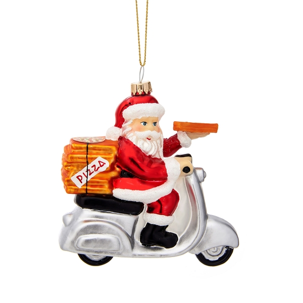 Sass & Belle Pizza Delivery Santa Shaped Bauble