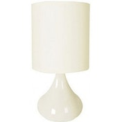 Lloytron L2202CR 60 Watt Zenith Touch Table Lamp, 14-inch, Cream [Energy Class E] UK Plug