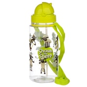Shaun the Sheep Childrens Water Bottle with Straw & String