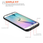 Caseflex Samsung Galaxy S6 Edge Tough Armor Case - Metal Slate