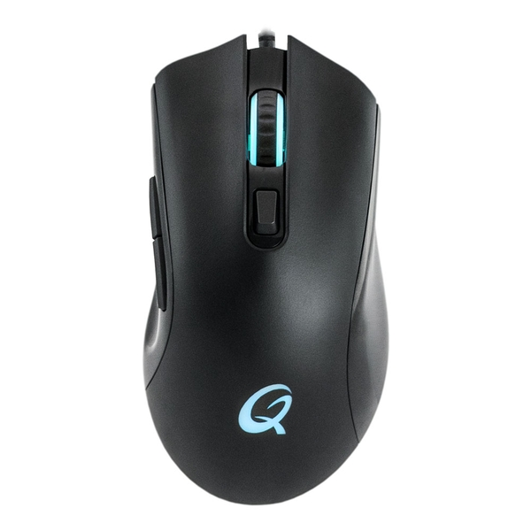 Qpad Dx-120 Fps 12000Dpi Gaming Mouse with RGB Lighting USB Braided (1.8m Cable)