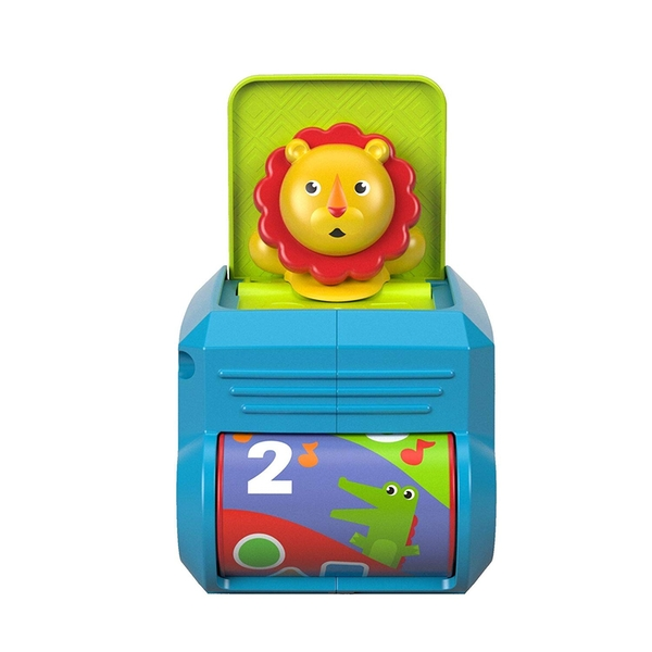 Fisher Price Spin and Surprise Lion Baby Jack in a Box Toy with Sounds