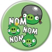Angry Birds Nom Nom Nom Pigs Badge