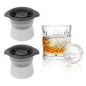 Silicone Ice Ball Makers - Set of 2 | Pukkr