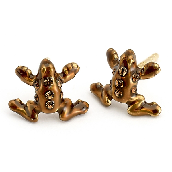 Harry Potter Sterling Silver Chocolate Frog stud earrings with Swarovski Crystal Elements