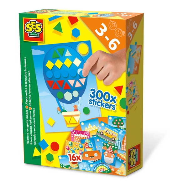 SES Creative - Children's I Learn to Recognise Shapes Set (Multi-colour)
