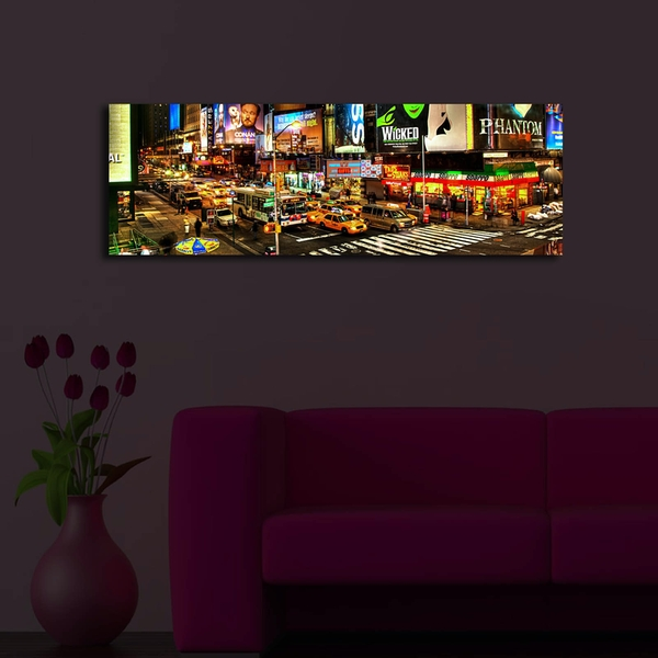 3090?ACT-36 Multicolor Decorative Led Lighted Canvas Painting