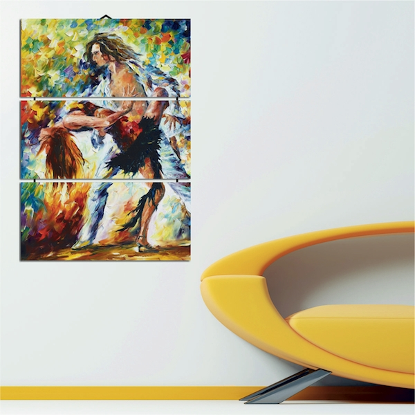 Dancing Decorative MDF Painting (3 Pieces)