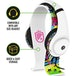 STEALTH Street Gaming Headset with Stand (White with Black/Graffiti Stand) - Image 3