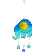 Blue Elephant Suncatcher
