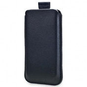 SOX Classic Leather Strap Black Mobile Phone Pouch for iPhone/Samsung and more