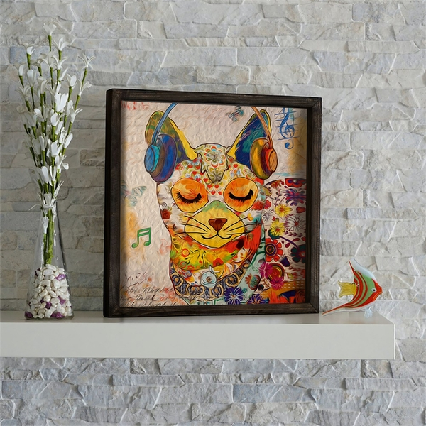 KZM484 Multicolor Decorative Framed MDF Painting