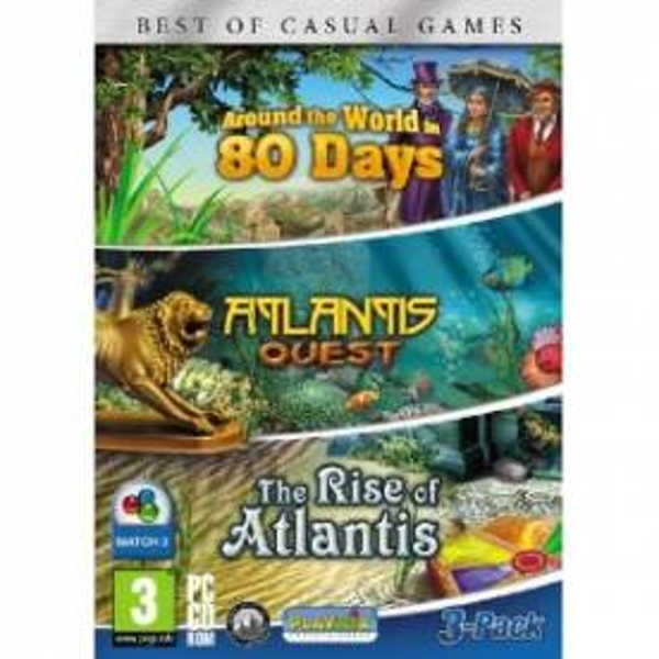Around the World in 80 Days, Rise of Atlantis and Atlantis Quest Triple Pack Game PC