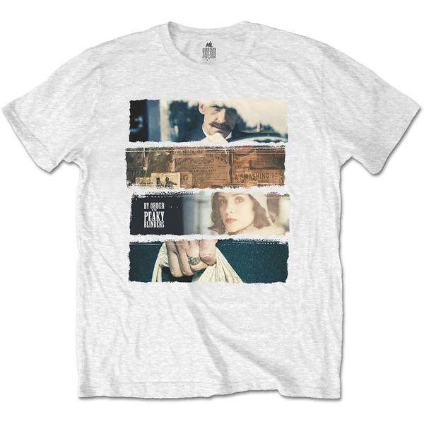 Peaky Blinders - Slices Unisex Large T-Shirt - White