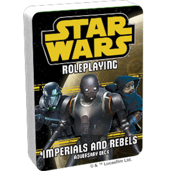Star Wars Roleplaying Imperials and Rebels III Adversary Deck