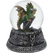 Enchanted Emerald Dragon Snowglobe