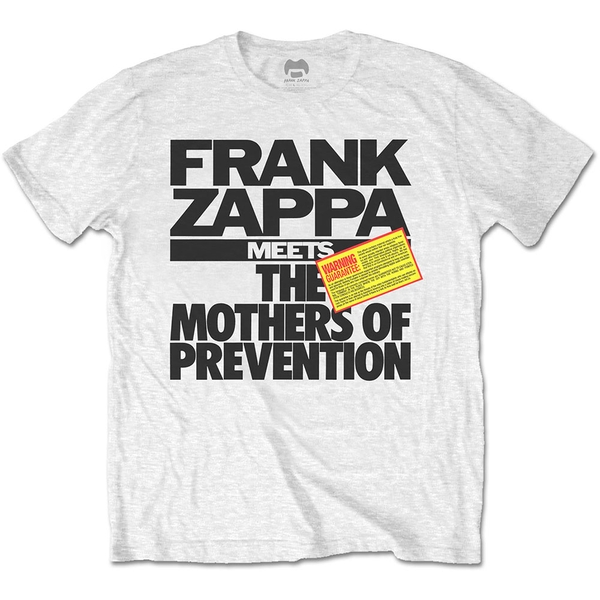 Frank Zappa - The Mothers of Prevention Unisex Large T-Shirt - White