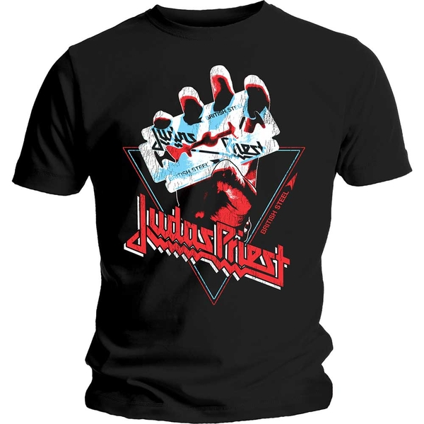 Judas Priest - British Steel Hand Triangle Unisex Small T-Shirt - Black