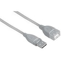 Hama USB 2.0 Extension Cable, shielded, grey, 0.50 m