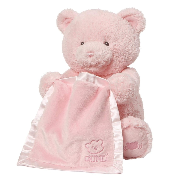 My First Teddy Peek A Boo Pink Soft Toy