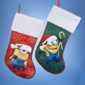 Stuart Minion Despicable Me 19 Inch Red Christmas Stocking