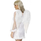 Feather Angel Wings White Large