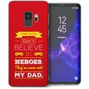 CASEFLEX SAMSUNG GALAXY S9 DAD HEROES QUOTE (RED) CASE / COVER (3D)