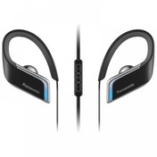 Panasonic RPBTS50EK Wireless Waterproof Sports Bluetooth Earphones with Blue LED Black