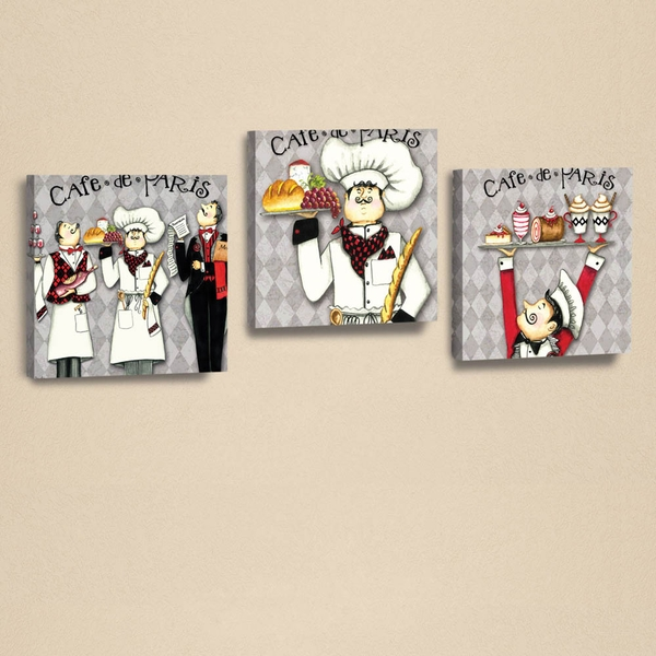 AHM041 White Black Grey Red Green Decorative PU Leather Painting (3 Pieces)