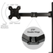 Dual Arm Monitor Bracket | M&W - Image 3