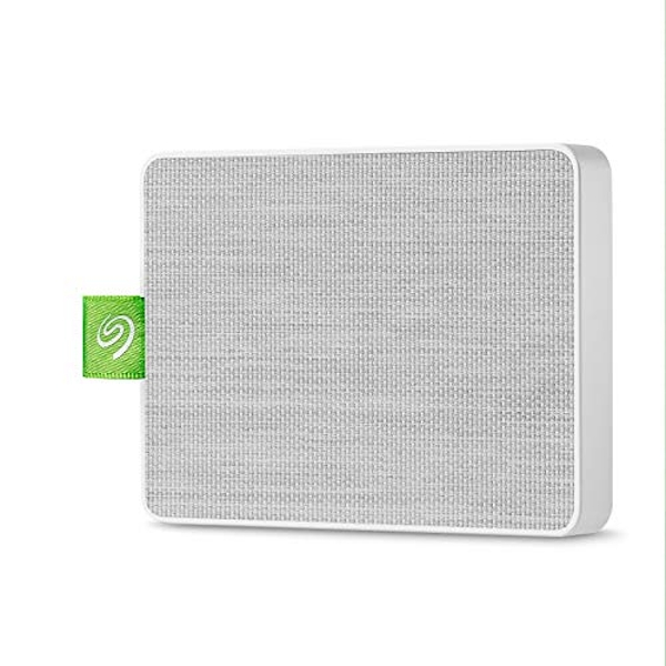 """Seagate Ultra Touch SSD, 500 GB, Portable External SSD, 2.5"""", USB 3.0, PC & Mac, Black, 4 mo Adobe Creative Cloud Photography Plan and Three-yr Rescue Services (STJW500401)"""