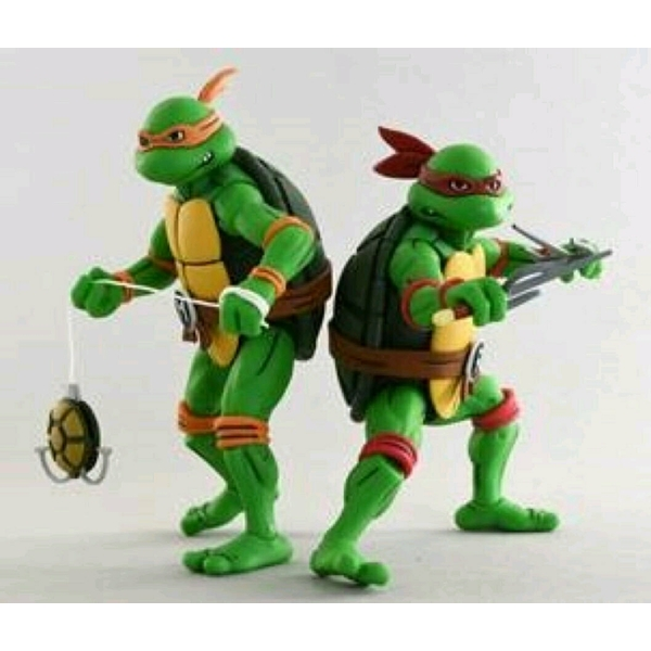 Michelangelo and Raphael (TMNT Season 2) Pack of 2 Neca Action Figure