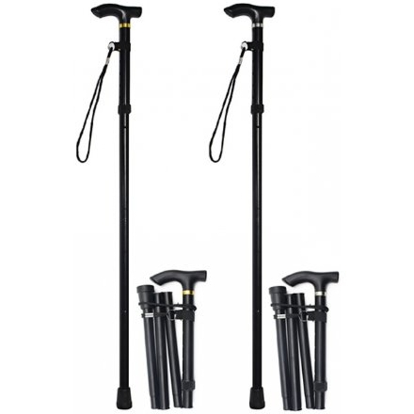 83 cm Folding Walking Stick Black (1 Random Supplied)