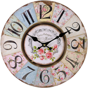 Shabby Chic Floral Patchwork Design Wall Clock