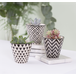Sass & Belle Black Geo Mini Planters (Set of 3) - Image 2