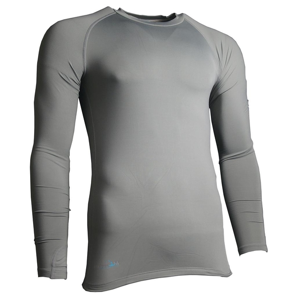 Precision Essential Base-Layer Long Sleeve Shirt Adult Grey - Large 42-44 Inch