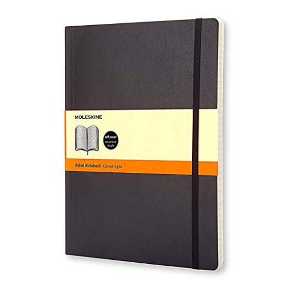 Moleskine Soft Extra Large Ruled Notebook Black Proceedings 2007 Notebook / blank book