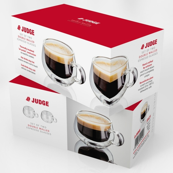 Judge Double Wall Glasses Pack 2 Espresso
