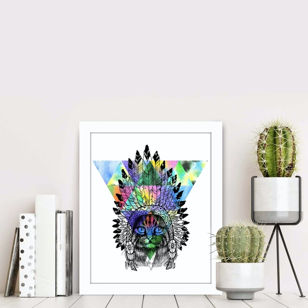 BCT-022 Multicolor Decorative Framed MDF Painting