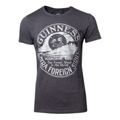 Guinness - Heritage Intaglio Raised Printed Men's Small T-Shirt - Grey