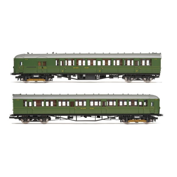 Hornby SR 2-BIL Unit 2152 DMBT(L) No. 10718 and DTC(L) No. 12185 Era 3 Model Train