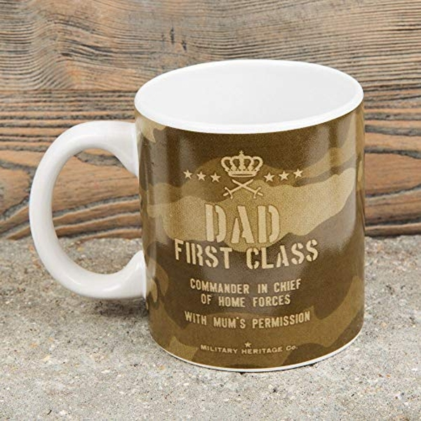 Military Heritage Stoneware Mug - Dad First Class