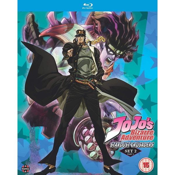 JoJo's Bizarre Adventure Set Two: Stardust Crusaders Part One (Eps 1-24) Blu-ray