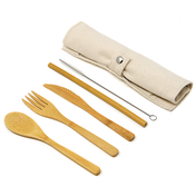 Reusable Bamboo Cutlery Set | M&W