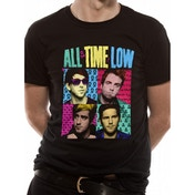 All Time Low - Pop Art Unisex X-Large T-Shirt - Black